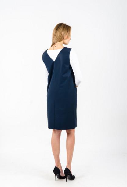 Tams. mėlyna moteriška suknelė