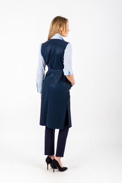 Tams. mėlyna moteriška liemenė