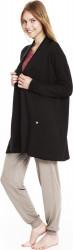 Moteriškas megztinis iš kilpinės merino vilnos su kišenėmis