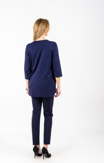 Tams. mėlynas moteriškas švarkas