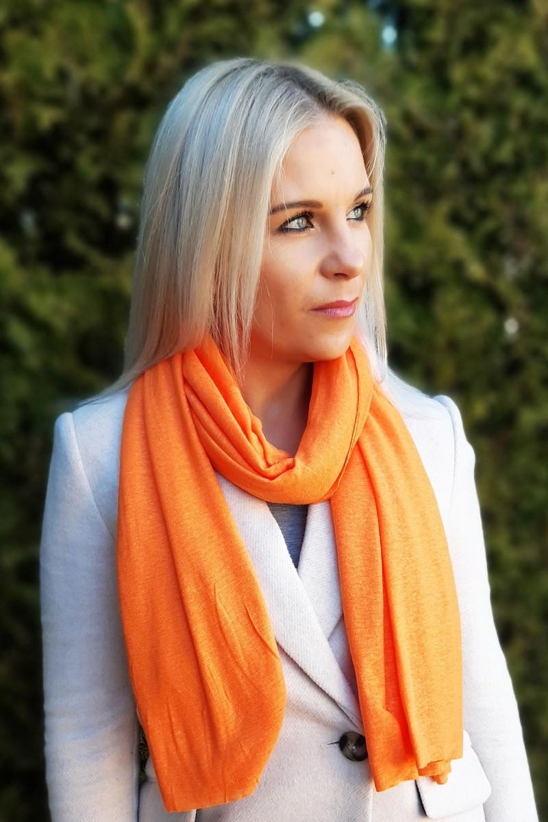Lininis šalikas oranžinis