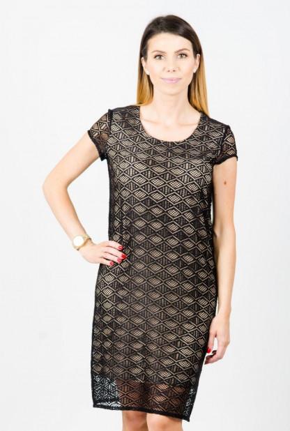 Suknelė trumpomis rankovėmis