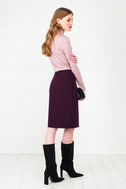 Blouse with merino wool