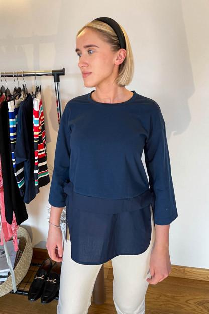 Tams. mėlyna moteriška tunika | Omniteksas.lt